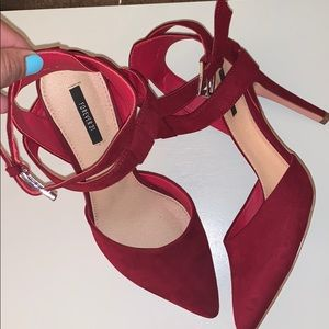 Forever 21 red pointy toe heels
